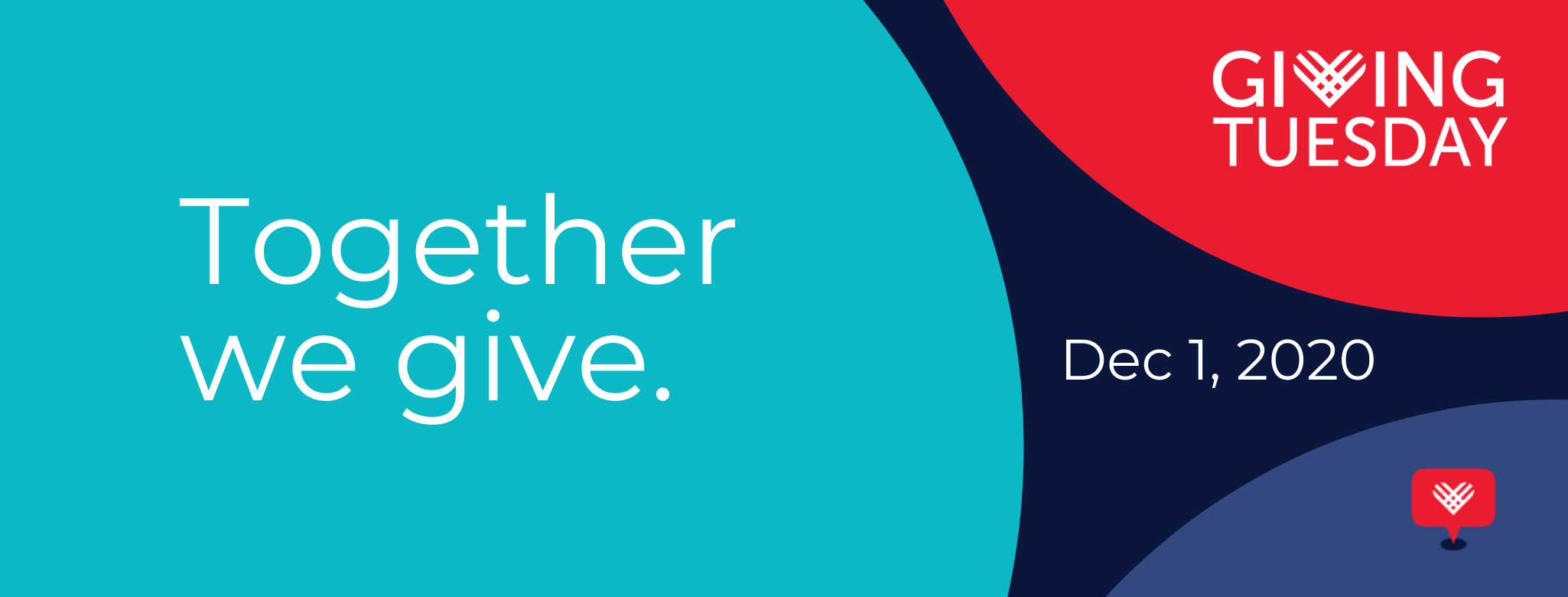 Together we give: Giving Tuesday is December 1, 2020.