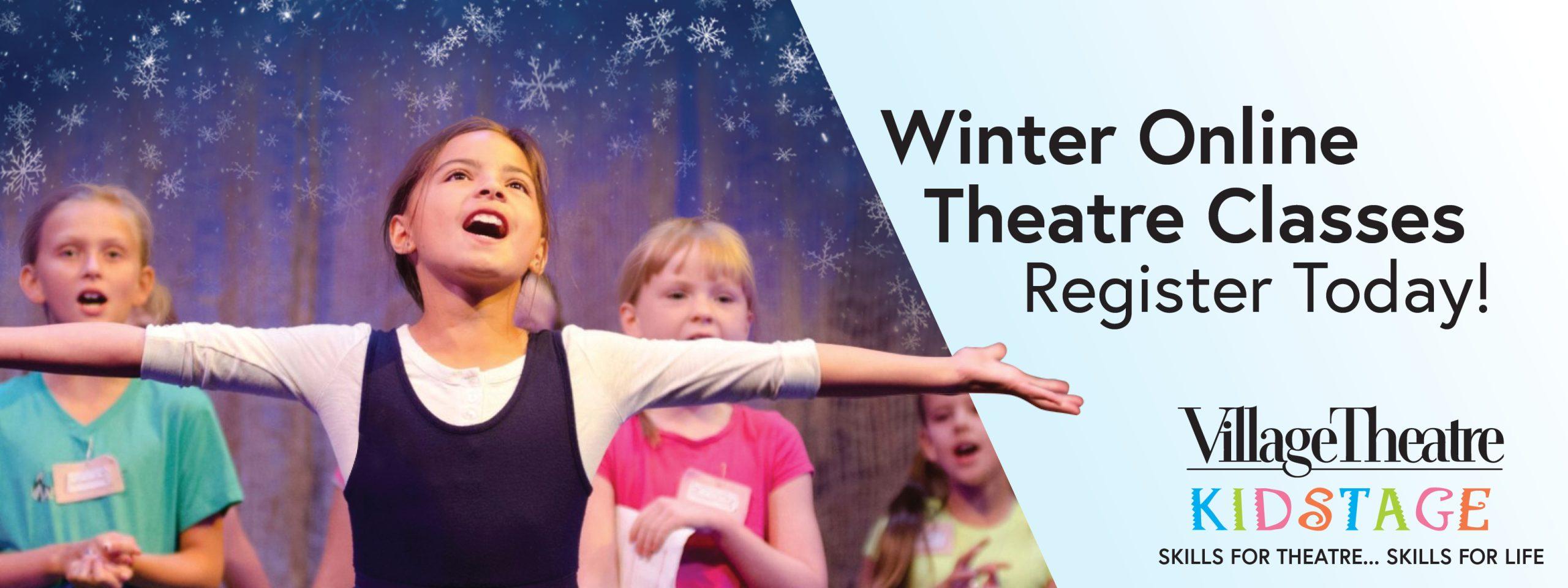 KIDSTAGE Winter Online Theatre Classes: Register Today