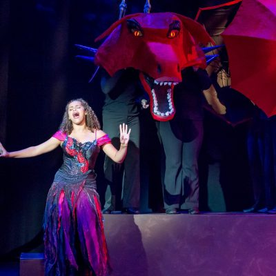 """Dragon sings """"Donkey Pot Pie"""" from KIDSTAGE Issaquah's production of Shrek"""
