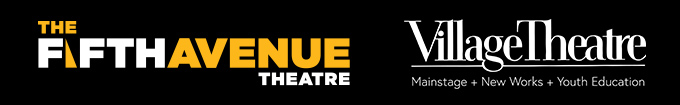 Logos for both 5th Ave Theatre and Village Theatre